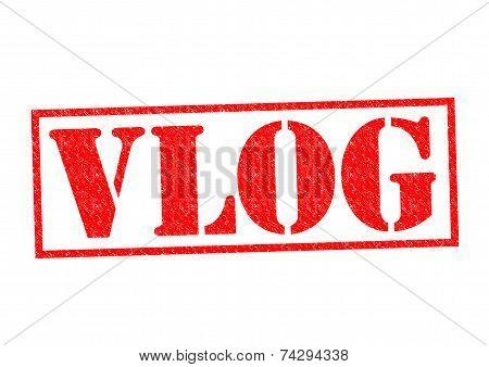 Vlog Rubber Stamp