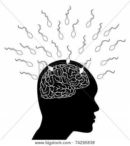 Sperm Attack The Brain - Illustration