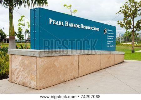 Pearl Harbor Historic Sites Sign Memorial