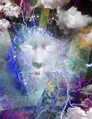 Mythical Face Abstract poster