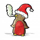 cartoon christmas robin smoking marijuana poster