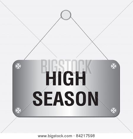 silver metallic high season