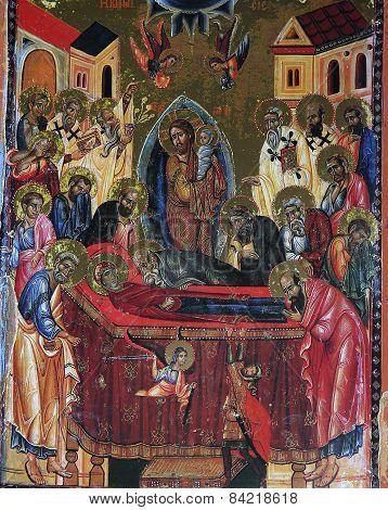 Byzantine mosaic in Saint Catherine Monastery