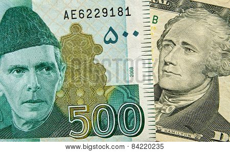 Pakistan and US Banknotes