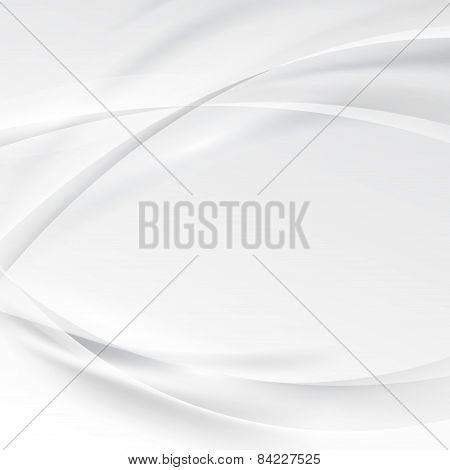 Smooth swoosh abstract modern grey border line background. Vector illustration poster