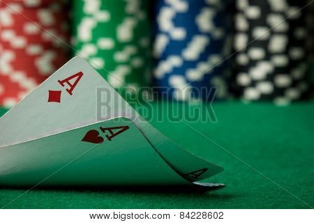 Two Aces Close Up