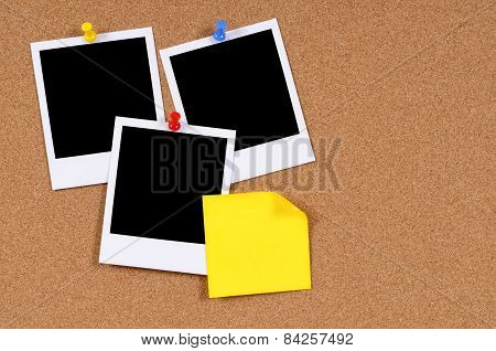 Blank Photo Prints With Sticky Note