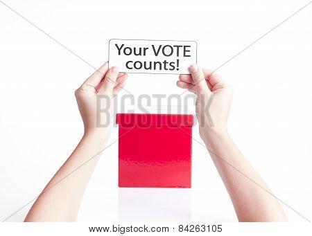 your vote counts, election concept