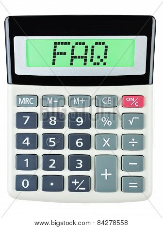 Calculator With Faq