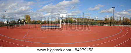 France, Yvelines, A Sports Ground In Les Mureaux