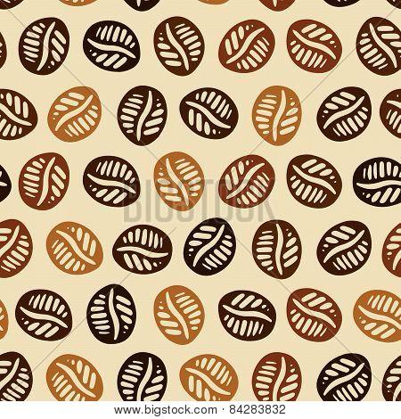 Coffee Hand Drawn Pattern