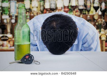 Man Drunk In The Bar