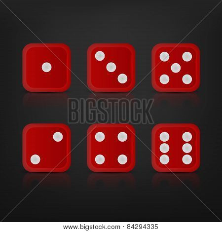 Dice for games turned on all sides