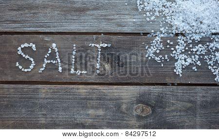 Word Salt From Sea Salt Crystals