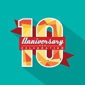 10 Years Anniversary Celebration Design Vector. EPS 10 poster