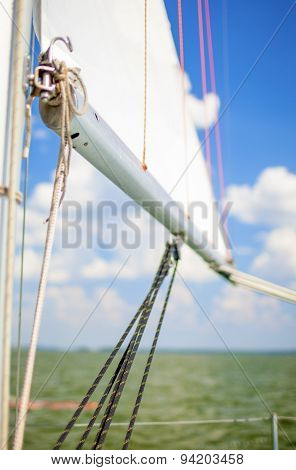 Sea Concepts: Mast Of The Yacht On Sea