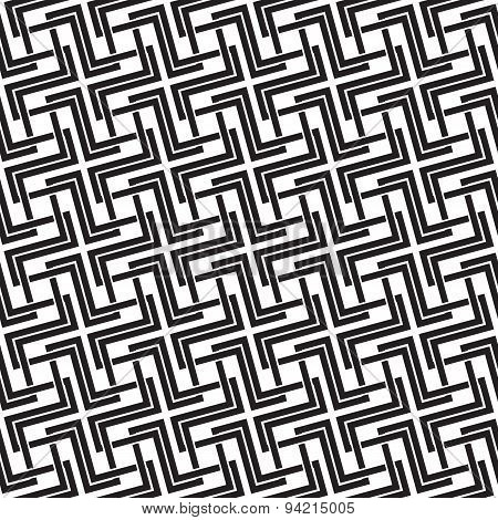 Seamless pattern of intersecting crosses