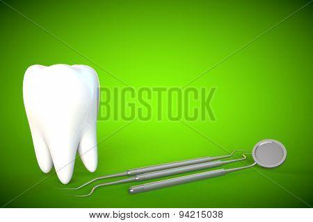Tooth molar tooth Dental Hygiene Dentist 3D green poster