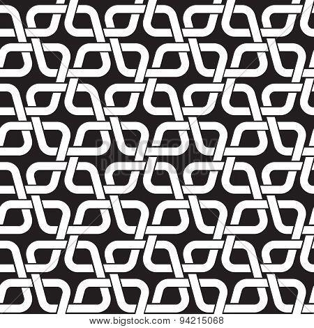 Seamless pattern of intertwined rhombuses