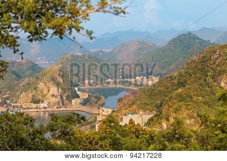 Viewpoint panorama of Halong Bay for Cat Ba island, Vietnam poster