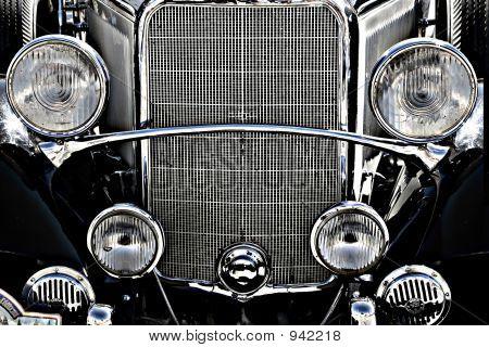 Old Vintage Car Engine Front