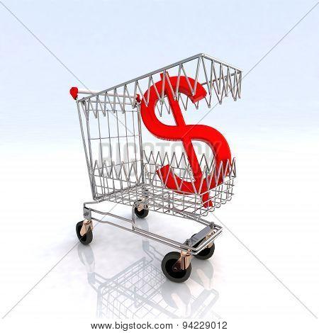 Shopping Cart That Bites Dollar