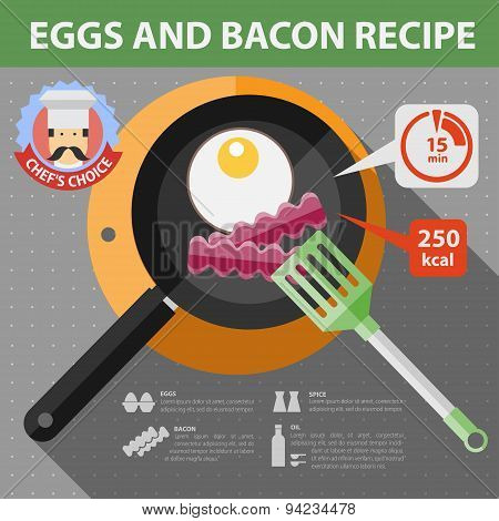 Vector flat recipe infographic.