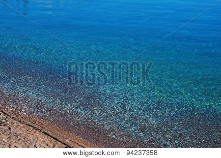 The turquoise water