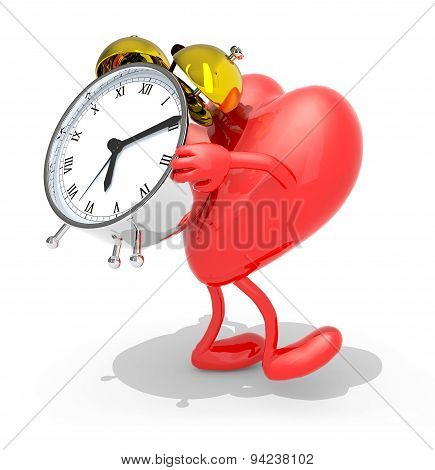 Heart With Arms, Legs That Brings Alarm Clock