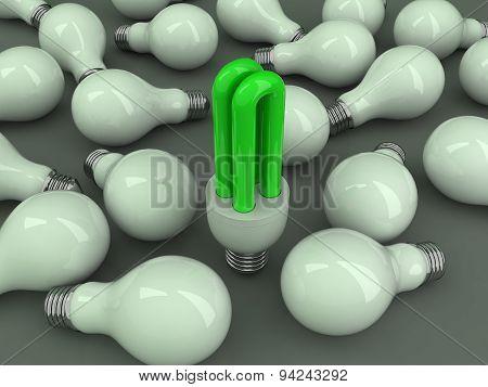 Green Saving Bulb