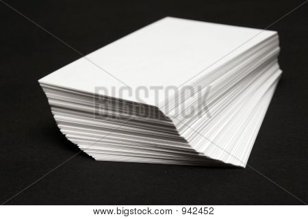 Stack Of White Cards