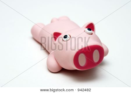 Pink Rubber Pig