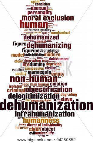 Dehumanization Word Cloud