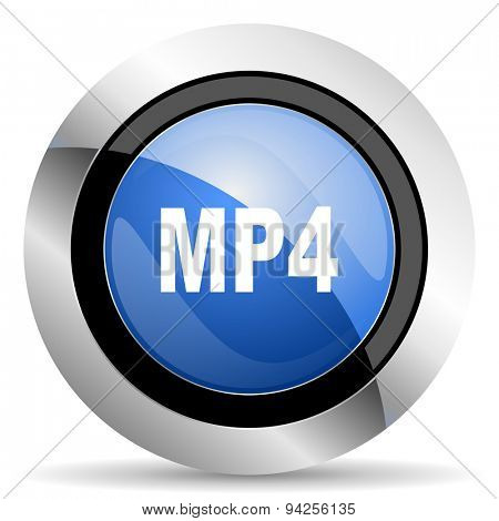 mp4 icon  original modern design for web and mobile app on white background
