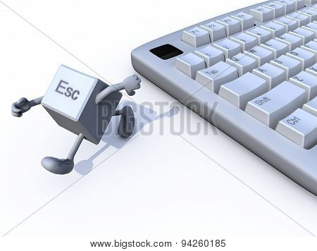 Escape Key Run Away From A Keyboard