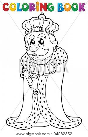 Coloring book king theme 1 - eps10 vector illustration.