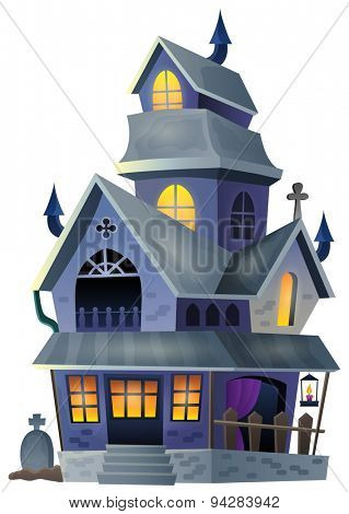 Image with haunted house thematics 1 - eps10 vector illustration.