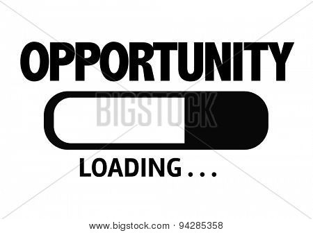 Progress Bar Loading with the text: Opportunity