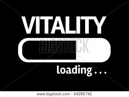 Progress Bar Loading with the text: Vitality