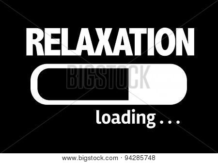 Progress Bar Loading with the text: Relaxation