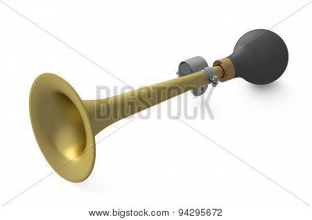 Vehicle Horn Or Klaxon Closeup