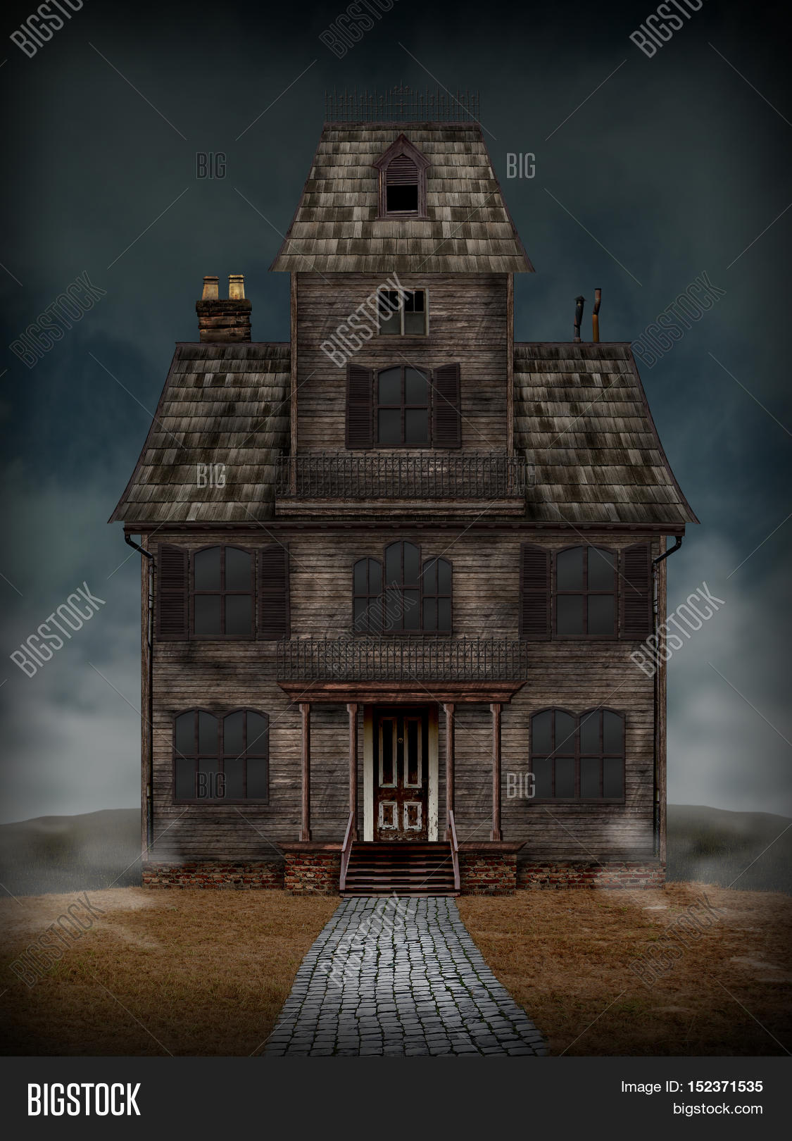 Haunted House Scary Old Good For Use In Halloween Or Horror Projects