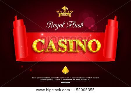 Online casino background for poster, flyer, billboard, web sites, gambling club. Casino paper banner template.