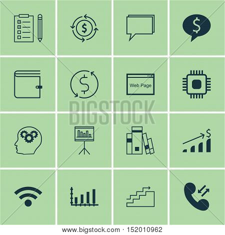 Set Of 16 Universal Editable Icons For Marketing, Human Resources And Seo Topics. Includes Icons Suc