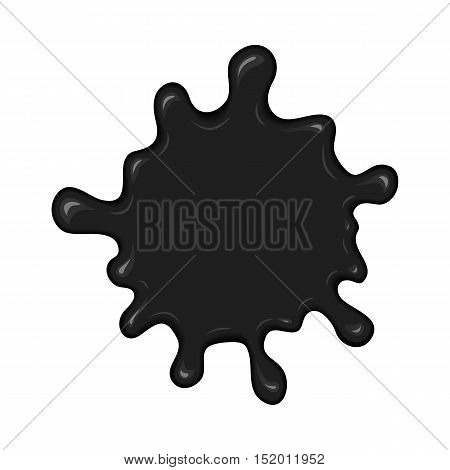 Vector Blob Of Ink Or Oil.