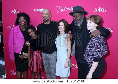 LOS ANGELES - OCT 10:  Idara Victor, Marsai Martin, Common, Frankie Faison, Frances Fisher at the