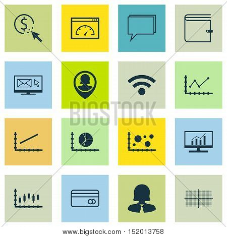 Set Of 16 Universal Editable Icons For Seo, Human Resources And Computer Hardware Topics. Includes I