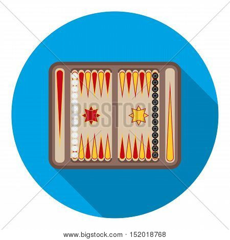 Backgammon icon in flat style isolated on white background. Board games symbol vector illustration.