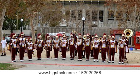 LOS ANGELES - OCT 16:  USC Marching Band at the ALS Association Golden West Chapter Los Angeles County Walk To Defeat ALS at the Exposition Park on October 16, 2016 in Los Angeles, CA