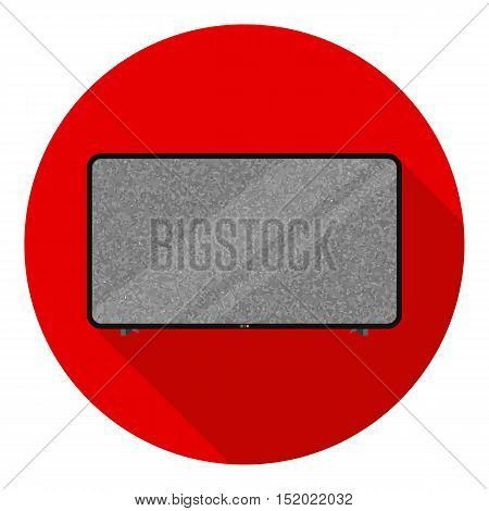 LCD television icon in flat style isolated on white background. Household appliance symbol vector illustration.